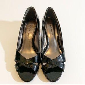 Etienne Aigner Shoes - Etienne Aigner Black Patent Platform Heels SZ 8.5